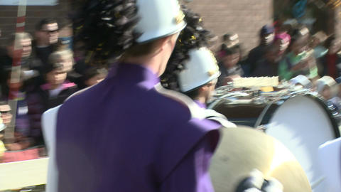 Marching band on the move (2 of 3) Stock Video Footage