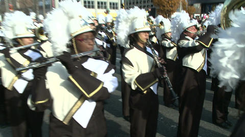Drumline perform at parade (4 of 5) Footage