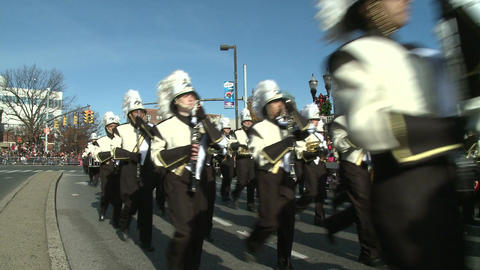 Drumline perform at parade (2 of 5) Footage