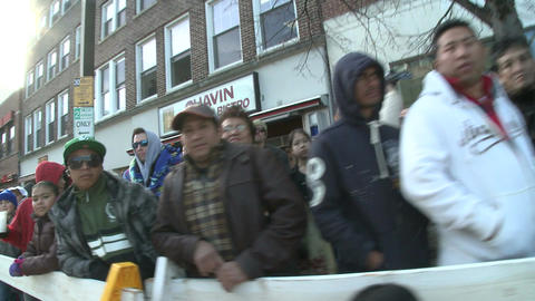 Crowds at fall parade Footage