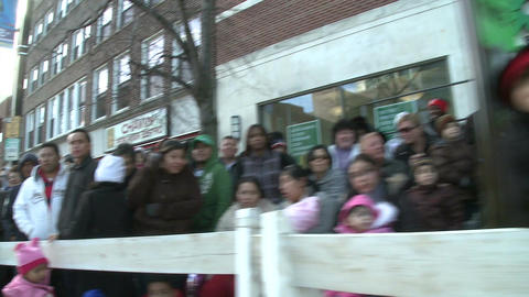 Crowds at fall parade Stock Video Footage