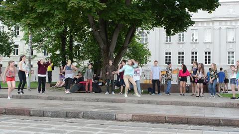 Modern street dancers Stock Video Footage