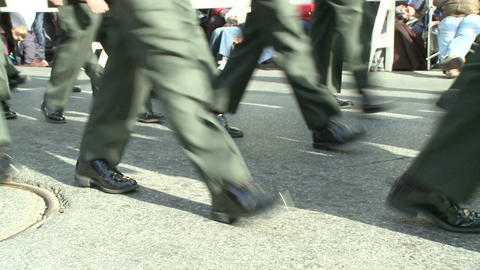 Military marching feet Stock Video Footage