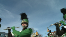 Marching band performs at parade (3 of 5) Footage