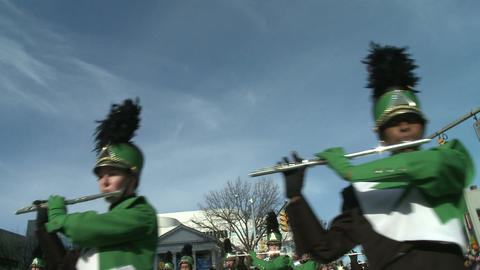 Marching band performs at parade (3 of 5) Stock Video Footage