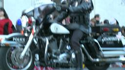 Policeman at parade Stock Video Footage