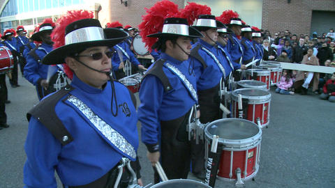 Drummers in marching band Footage