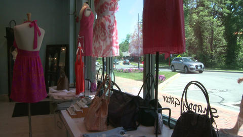 Boutique window (1 of 2) Stock Video Footage