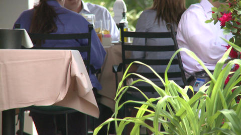 Sidewalk restaurant (6 of 9) Stock Video Footage
