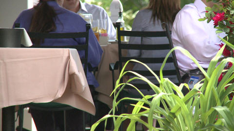 Sidewalk restaurant (6 of 9) Footage