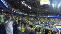 1080 basketball fans sing and cheer Stock Video Footage