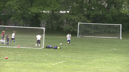 Elementary School Boys Playing Soccer (5 of 6) Stock Video Footage