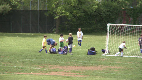 Elementary School Boys Playing Soccer (4 of 6) Footage