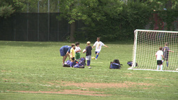 Elementary School Boys Playing Soccer (4 of 6) Stock Video Footage
