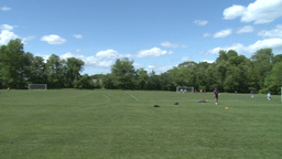 Elementary School Boys Playing Soccer (1 of 6) Stock Video Footage