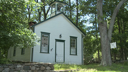 Old school house Stock Video Footage