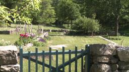 Stone walled garden Footage