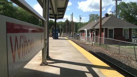 Wilton train station Stock Video Footage