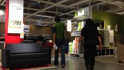 People shop in IKEA store Stock Video Footage