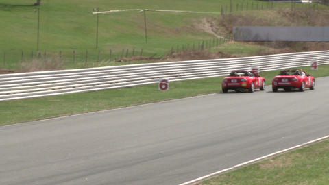 Mazdas racing (7 of 9) Stock Video Footage