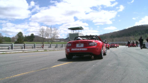 Mazdas racing (9 of 9) Stock Video Footage