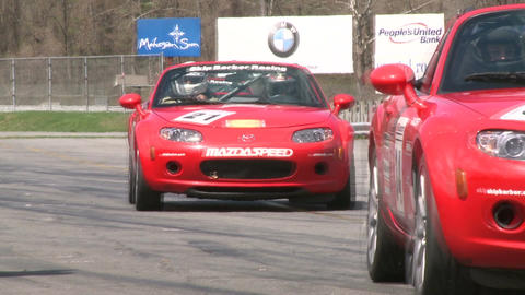 Mazdas racing (2 of 9) Stock Video Footage