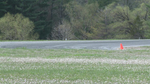 Mazdas racing (3 of 9) Stock Video Footage