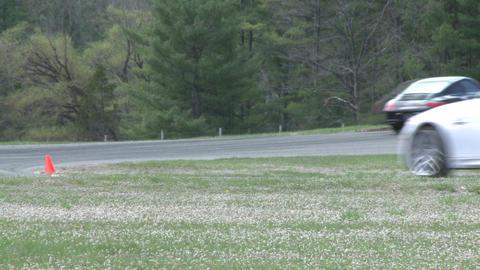 Mazdas racing (6 of 9) Stock Video Footage