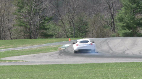 Tuned up cars racing (1 of 9) Stock Video Footage