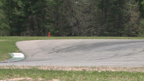 Flying down a racetrack (3 of 8) Stock Video Footage