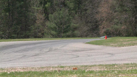 Flying down a racetrack (1 of 8) Stock Video Footage