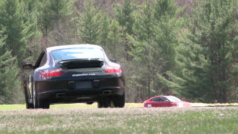 Flying down a racetrack (7 of 8) Stock Video Footage
