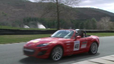 Speeding down a raceway (7 of 8) Stock Video Footage