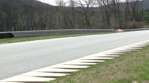 Speeding down a raceway (3 of 8) Stock Video Footage