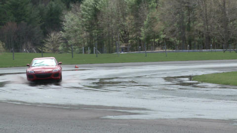Racing on a rainy day (3 of 8) Stock Video Footage