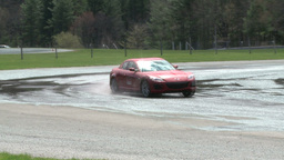 Racing on a rainy day (4 of 8) Stock Video Footage