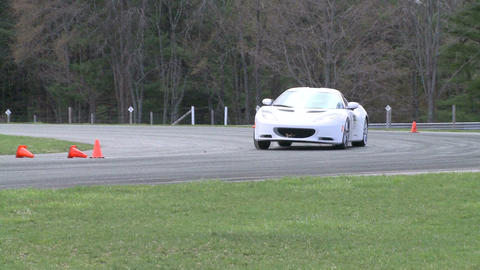 Competing race cars (4 of 8) Stock Video Footage