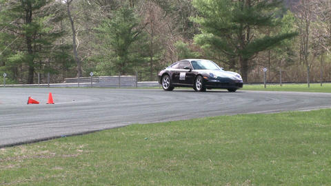 Competing race cars (2 of 8) Stock Video Footage