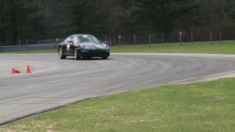 Competing race cars (3 of 8) Stock Video Footage