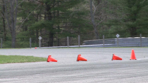 Racing cars speeding down a track (7 of 8) Footage