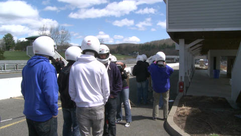 Drivers gathering for a Race Stock Video Footage