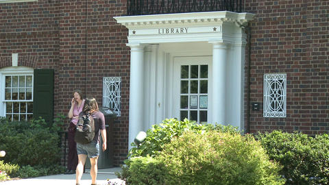 Town Library (3 of 5) Stock Video Footage