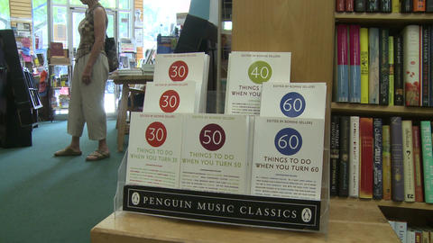 Inside a book store (2 of 4) Stock Video Footage