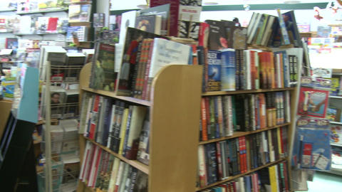 Inside a book store (1 of 4) Footage