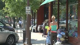 People walking down sidewalk (2 of 4) Footage