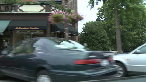 Driving by stores on Main Street Footage