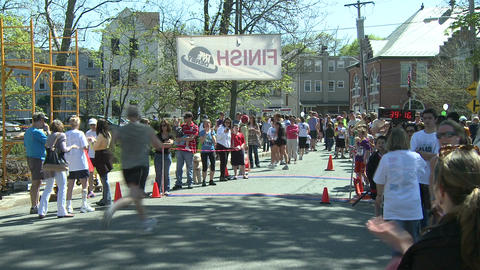 Crossing the finish line (3 of 3) Footage