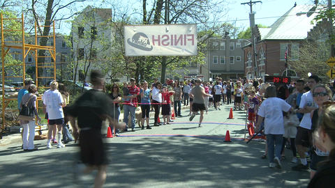 Crossing the finish line (3 of 3) Stock Video Footage