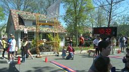 Marathon runners (8 of 10) Stock Video Footage