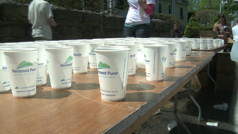 Marathon hydration (1 of 4) Stock Video Footage
